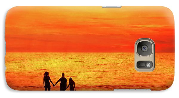 Galaxy Case featuring the digital art Sunset On The Beach by Randy Steele