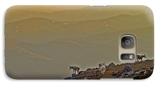 Galaxy Case featuring the photograph Sunset On The Edge by Scott Mahon