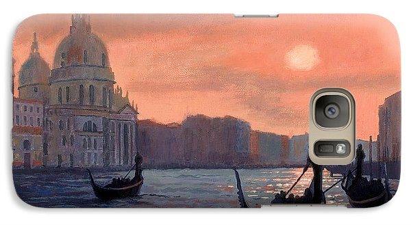 Galaxy Case featuring the painting Sunset On The Grand Canal In Venice by Janet King