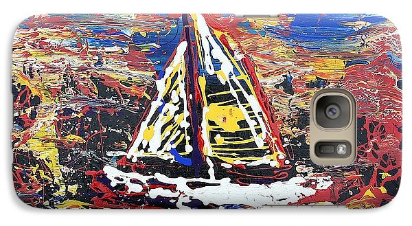 Galaxy Case featuring the painting Sunset On The Lake by J R Seymour