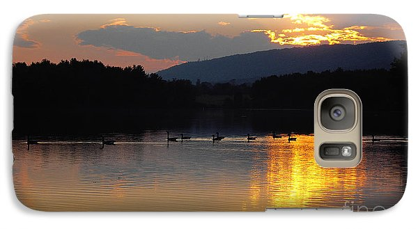 Galaxy Case featuring the photograph Sunset On The Lake by Vilas Malankar