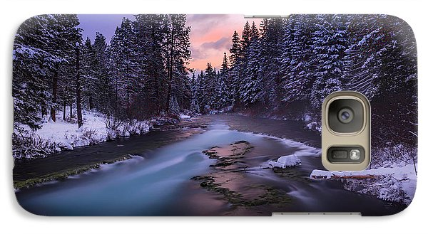 Galaxy Case featuring the photograph Sunset On The Metolius by Cat Connor
