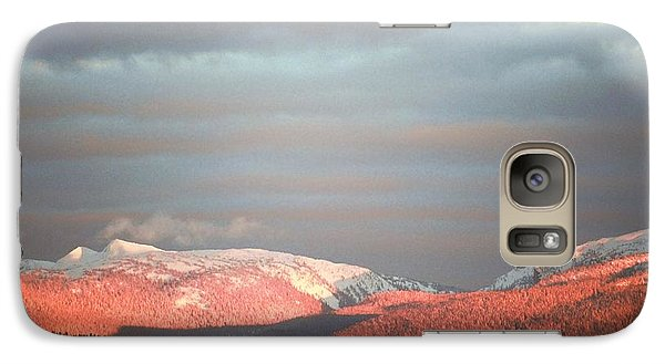 Galaxy Case featuring the photograph Sunset On The Monashees by Victor K