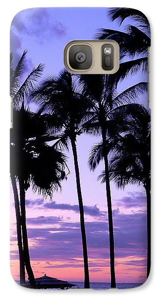 Galaxy Case featuring the photograph Sunset On The Palms by Debbie Karnes