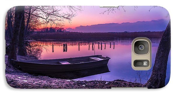 Galaxy Case featuring the photograph Sunset On The White Lake by Dmytro Korol
