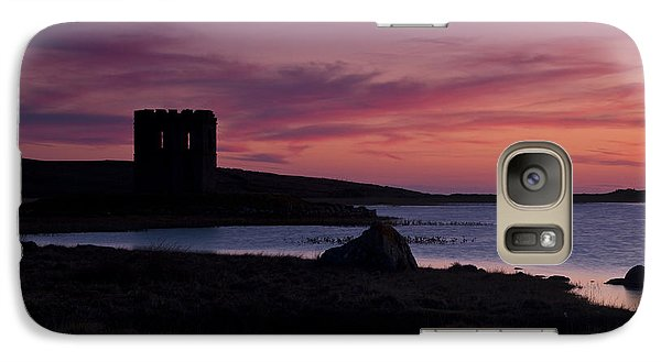 Galaxy Case featuring the photograph Sunset On Uist by Gabor Pozsgai