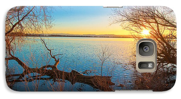 Galaxy Case featuring the photograph Sunset Over Barr Lake by Tom Potter