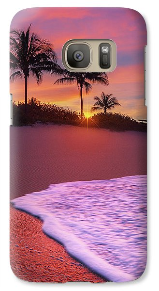 Galaxy Case featuring the photograph Sunset Over Coral Cove Park In Jupiter, Florida by Justin Kelefas