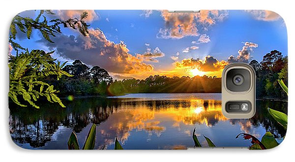Galaxy Case featuring the photograph Sunset Over Hidden Lake In Jupiter Florida by Justin Kelefas