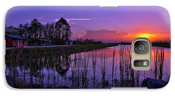 Galaxy Case featuring the photograph Sunset Over Hungryland Wildlife Management Area by Justin Kelefas