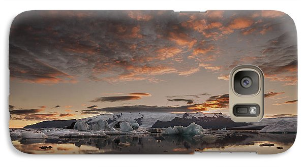 Galaxy Case featuring the photograph Sunset Over Jokulsarlon Lagoon, Iceland by Chris McKenna