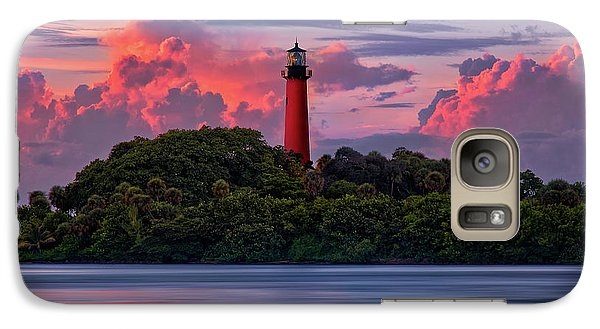 Galaxy Case featuring the photograph Sunset Over Jupiter Lighthouse, Florida by Justin Kelefas