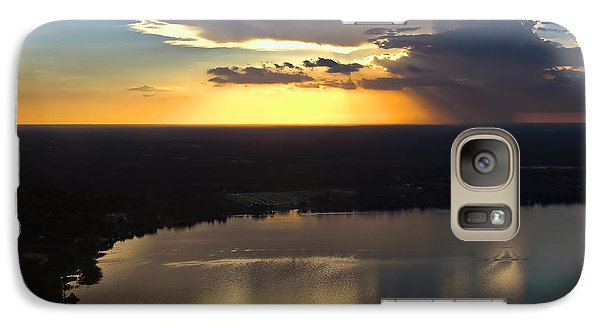 Galaxy Case featuring the photograph Sunset Over Lake by Carolyn Marshall
