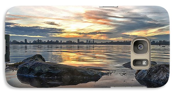 Galaxy Case featuring the photograph Sunset Over Lake Kralingen  by Frans Blok