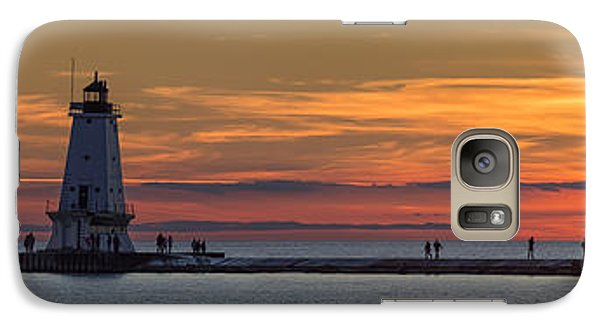 Marquette Galaxy S7 Case - Sunset Over Ludington Panoramic by Adam Romanowicz