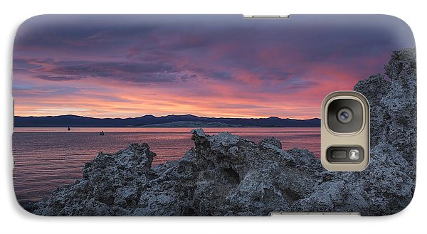 Galaxy Case featuring the photograph Sunset Over Mono Lake by Sandra Bronstein