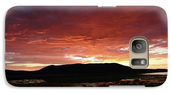 Galaxy Case featuring the painting Sunset Over Mormon Lake by Dennis Ciscel