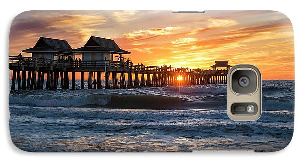 Galaxy Case featuring the photograph Sunset Over Naples Pier by Brian Jannsen