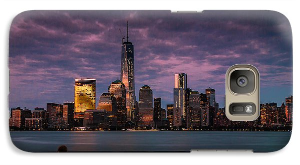 Galaxy Case featuring the photograph Sunset Over New World Trade Center New York City by Ranjay Mitra