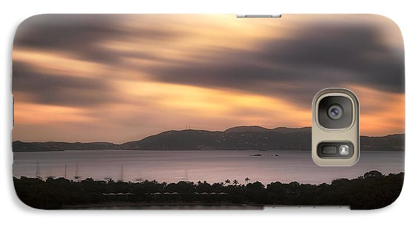 Galaxy Case featuring the photograph Sunset Over St. John And St. Thomas Panoramic by Adam Romanowicz