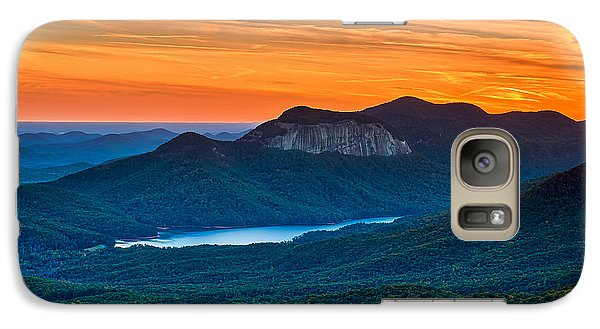 Sunset Over Table Rock From Caesars Head State Park South Carolina Galaxy S7 Case