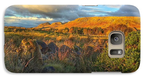 Galaxy Case featuring the photograph Sunset Over The Campsie Fells by RKAB Works