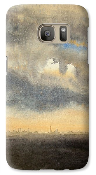 Galaxy Case featuring the painting Sunset Over The City by Andrew King