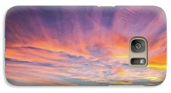 Galaxy Case featuring the photograph Sunset Over The Dunes by Vivian Krug Cotton