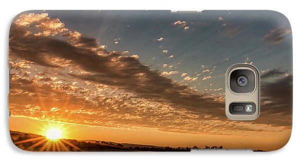 Galaxy Case featuring the photograph Sunset Over The Golden Meadow by Don Schwartz