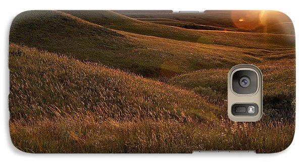Sunset Over The Kansas Prairie Galaxy S7 Case