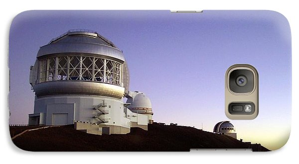 Galaxy Case featuring the photograph Sunset Over The Mauna Kea Observatories On Kona by Amy McDaniel