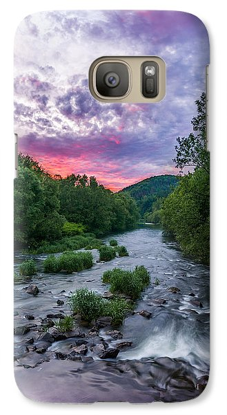 Galaxy Case featuring the photograph Sunset Over The Vistula In The Silesian Beskids by Dmytro Korol