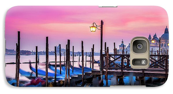 Galaxy Case featuring the photograph Sunset Over Venice by Andrew Soundarajan