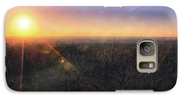 Galaxy Case featuring the photograph Sunset Over Wisconsin Treetops At Lapham Peak  by Jennifer Rondinelli Reilly - Fine Art Photography
