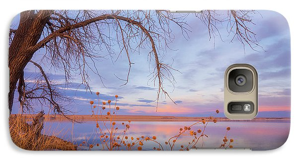 Galaxy Case featuring the photograph Sunset Overhang by Darren White