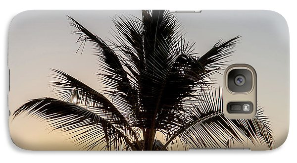 Galaxy Case featuring the photograph Sunset Palm by Az Jackson