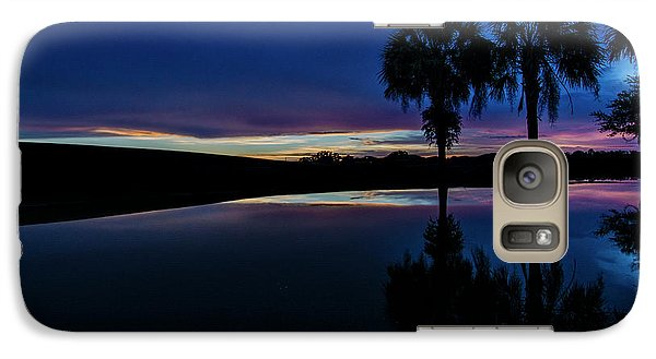 Galaxy Case featuring the photograph Sunset Palms by Brian Jones