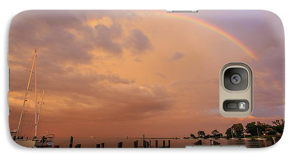 Galaxy Case featuring the photograph Sunset Rainbow by Jennifer Casey