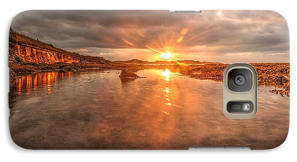 Galaxy Case featuring the photograph Sunset Reflection by Gouzel -