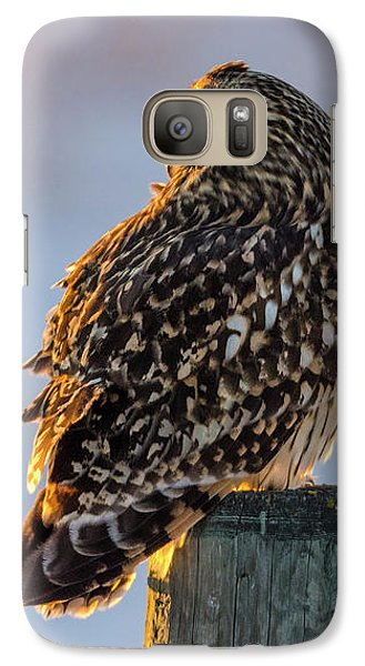 Sunset Short-eared Owl Galaxy S7 Case