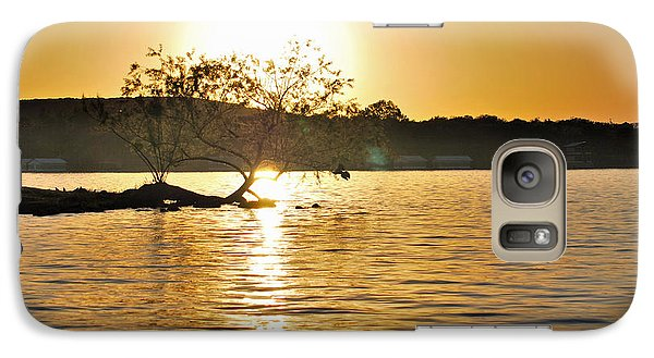 Galaxy Case featuring the photograph Sunset Silhouette by Teresa Blanton