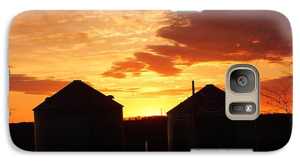 Galaxy Case featuring the digital art Sunset Silos by Jana Russon