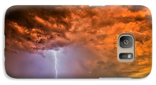 Galaxy Case featuring the photograph Sunset Strike by James Menzies