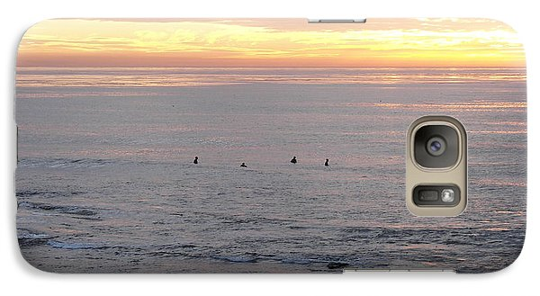 Galaxy Case featuring the photograph Sunset Surfing by Carol  Bradley