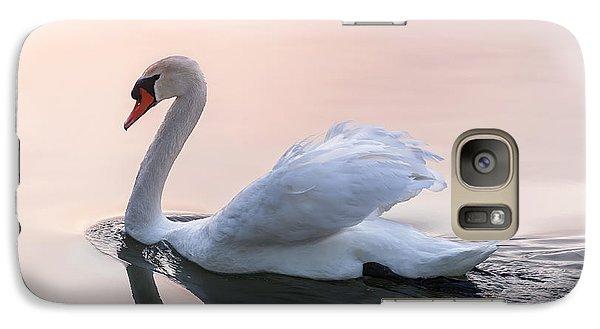 Sunset Swan Galaxy Case by Elena Elisseeva