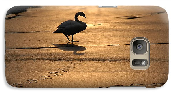 Galaxy Case featuring the photograph Sunset Swan by Richard Bryce and Family