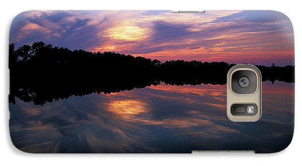 Galaxy Case featuring the photograph Sunset Swirl by Steve Stuller