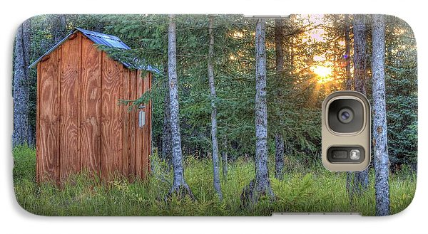 Galaxy Case featuring the photograph Sunset Through Spruce by Michele Cornelius