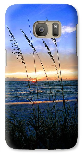 Galaxy Case featuring the photograph Sunset Thru The Sea Oats At Delnor Wiggins by Robb Stan