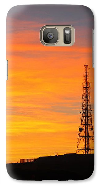 Galaxy Case featuring the photograph Sunset Tower by RKAB Works